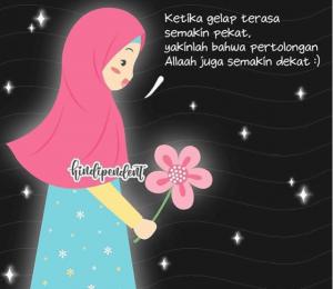 animasi kartun muslimah